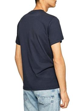 T-Shirt Pepe Jeans Theo Marine Homme