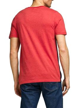 T-Shirt Jack and Jones Coeagle Rouge Homme