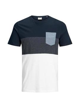 T-Shirt Jack and Jones Coeagle marin Homme