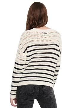 Pull Only Beige Martina Femme