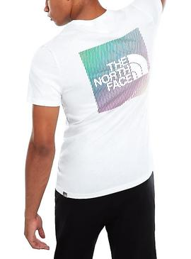 T-Shirt The North Face Rainbow Blanc Homme
