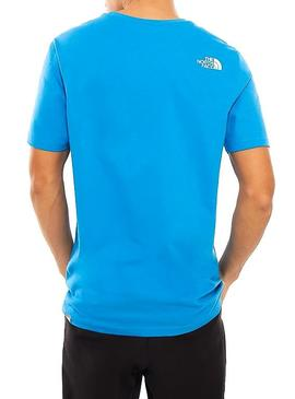 T-Shirt The North Face Logo Bleu Homme