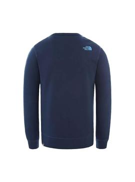 Sweat The North Face Drew Peak Marine Homme