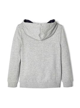 Sweat Name It Besto gris pour garçon