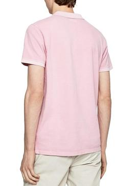Polo Pepe Jeans Vicent Rose pour homme