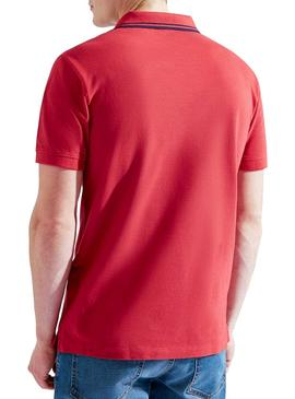 Polo Hackett Contrast Rouge pour homme