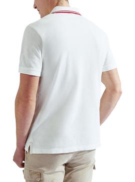 Polo Hackett Contrast blanc pour homme