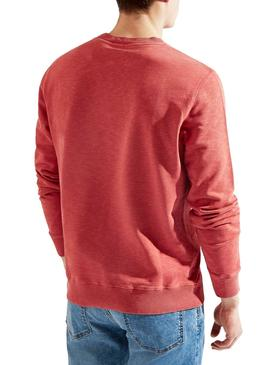 Sweat Hackett Basic Rouge pour homme