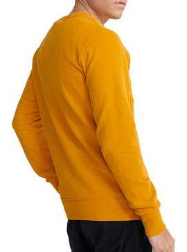Sweat Superdry Core Logo Jaune Homme
