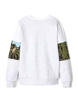Sweat Name It Florida Blanc pour Garçon