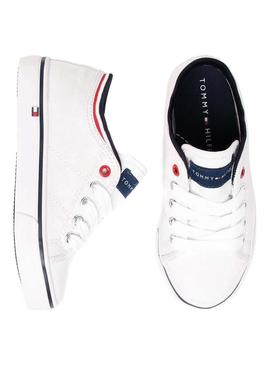 Baskets Tommy Hilfiger Low Blanches Garçon