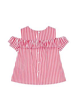 Blouse Mayoral Rayures Rouge pour Fille