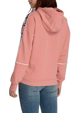 Sweat Fila Tavora Sweat à capuche rose pour femme