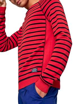 Pull Pepe Jeans Mark Rouge pour Homme