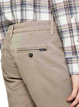 Bermuda Pepe Jeans Charly Beige pour Homme