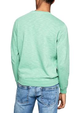 Sweat Pepe Jeans Gavin Vert pour Homme
