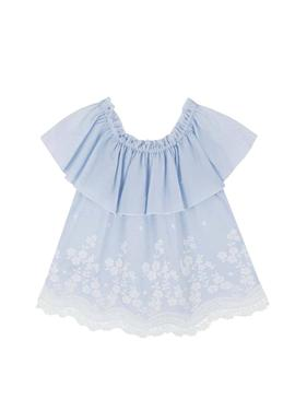 Chemisier Mayoral Ruffle Bleu pour Fille