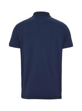 Polo Tommy Jeans Classic Solid Bleu pour Homme