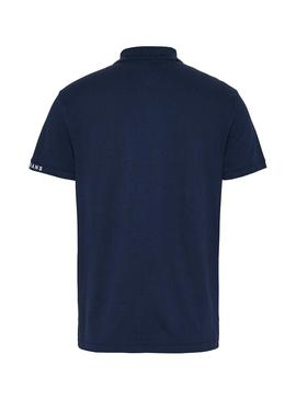 Polo Tommy Jeans Branded Bleu Marin pour Homme