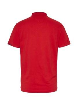 Polo Tommy Jeans Branded Rouge pour Homme