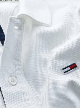 Polo Tommy Jeans Branded Blanc pour Homme