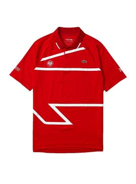 Polo Lacoste Roland Garros Croco Rouge Homme