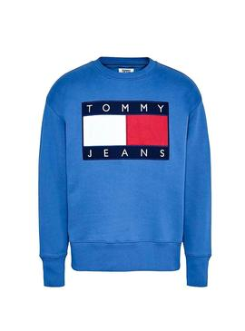 Sweat Tommy Jeans Maxi Flag Indigo