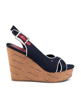Sandales Tommy Hilfiger Basic Wedge Bleu