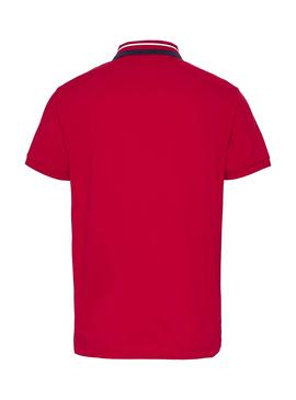 Polo Tommy Jeans Classic Rouge pour Homme