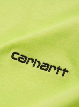 T-Shirt Carhartt Script Embroidery Lima Homme