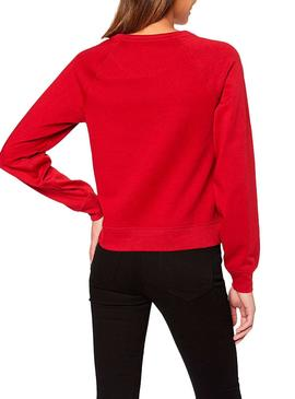 Sweat Only Rolling Rouge pour Femme