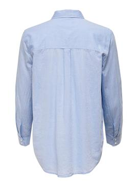 Chemise Only Hally Bleu pour Femme