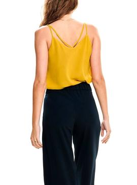Top Only Lune Jaune pour Femme