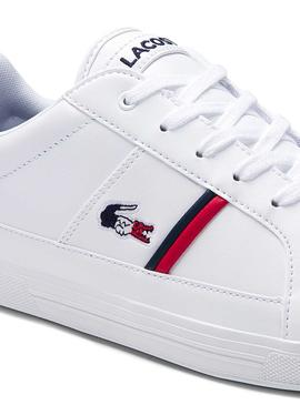 Baskets Lacoste Europe Blanc pour Homme