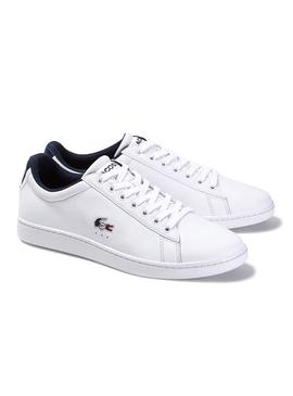 Baskets Lacoste Carnaby Tri Blanc pour Homme