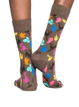 Chaussettes Happy Socks Deer Brown Woman