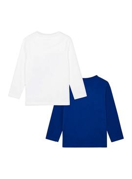Set 2 T-Shirts Mayoral Smooth Blue pour Enfant