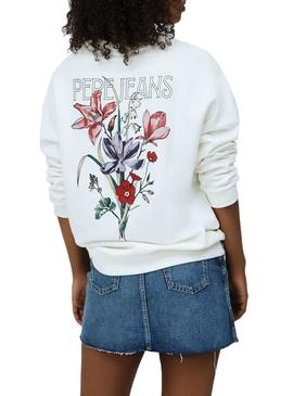 Sweat Pepe Jeans Becky Blanc pour Femme