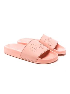 Tongs Pepe Jeans Flap Basse Corail Femme