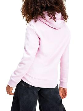Sweat Tommy Jeans Outline Rose pour Femme