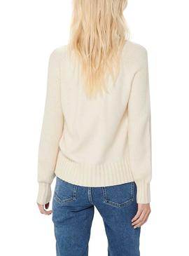 Pull Only Beige sable pour Femme