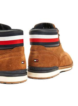 Boots Tommy Hilfiger Outdoor Suede Camel Homme