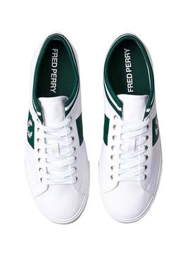 Baskets Fred Perry Underspin Blanc et Vert