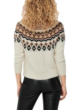 Pull Only Beige Lamber pour Femme