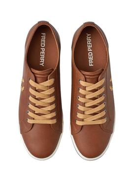Baskets Fred Perry Kingston Marron pour Homme