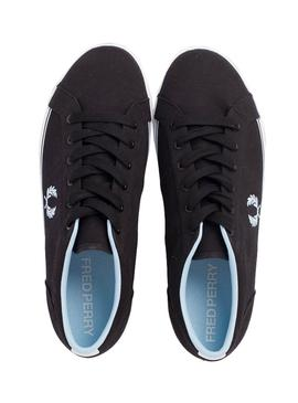 Baskets Fred Perry Baseline Twill Noire Homme