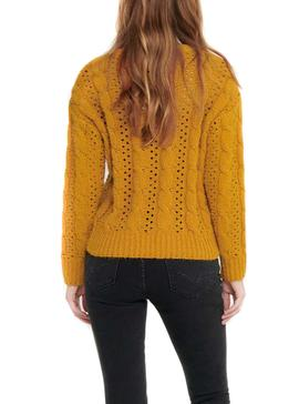 Pull Only Chanet Jaune pour Femme