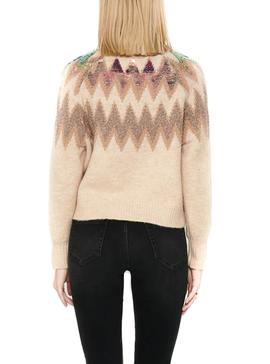 Pull Only Beige Mary pour Femme