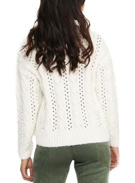 Pull Only Chanet Blanc pour Femme