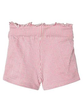 Shorts Name It Fastripe Rosa pour Fille